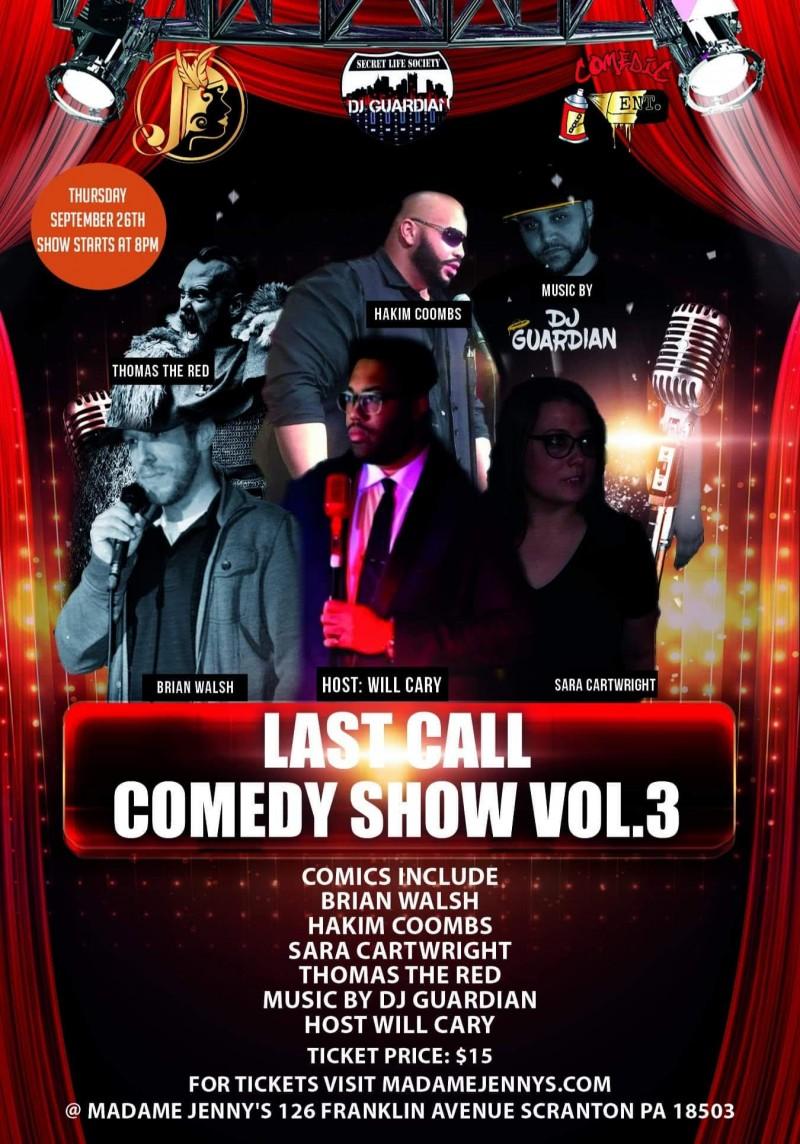 Last Call Comedy Show, Volume 3